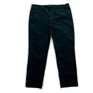 Old Navy Pixie Pants velvet Green 12
